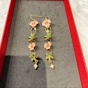 Pilgrim Flower Long Earrings